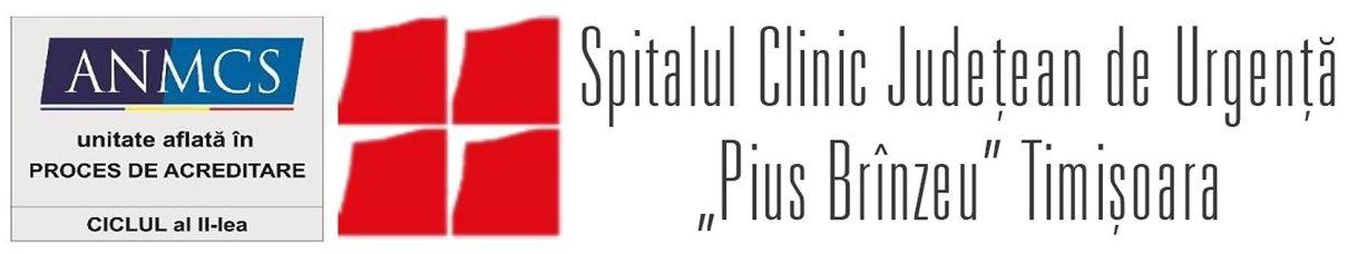 """Spitalul Clinic Judeţean de Urgenţă """"Pius Brînzeu"""" Timişoara"""